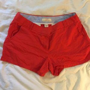 Cherry red broken in chino 2 -3 inch JCrew shorts
